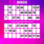 Free Bingo No Deposit No Card Details in Woodlands 6