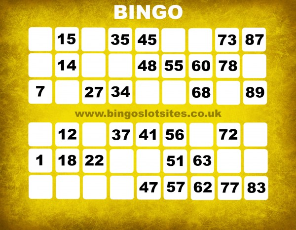 no deposit bingo sites